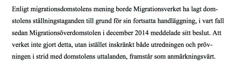Ur Migrationsdomstolens dom.